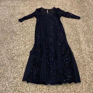 Navy Blue Sequin Gown - worn once